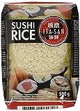 ITA-SAN Sushi Reis, Rundkorn 1. Qualität, 100% sortenrein, schnell und einfach zubereitet, vegan, halal, glutenfrei (1 x 500 g)